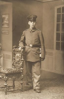 Originalfoto 9x13, Hannoveraner Soldat, ca, 1915