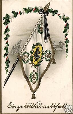 Patriotika AK, Prägekarte, Flagge, Weihnachtsgruß