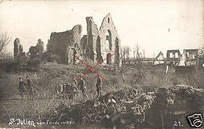 Originalfoto 9x13cm, zerstörtes St. Julien, 1917
