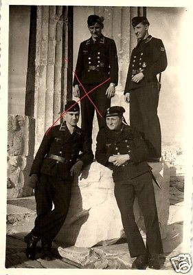 2 Originalfoto 7x10cm, Matrosen, Minensucher a. d. Akropolis, 1944