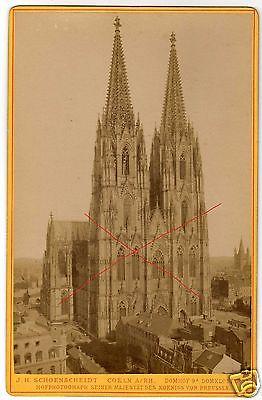 CDV 10,5x16,5cm Kölner Dom+ Hotel St. Paul, ca. 1880