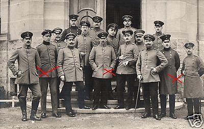 Originalfoto 9x13cm, Offiziere, vorm Franziskanerhospital Bad Kreuznach