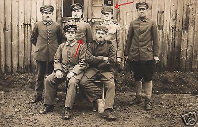 Originalfoto 9x13cm, Deutsche Kriegsgefangene vor Lagerlazarett