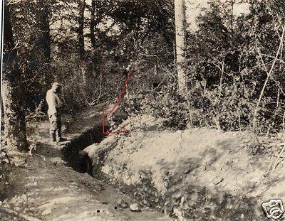 Originalfoto 8x11cm, Schützengraben