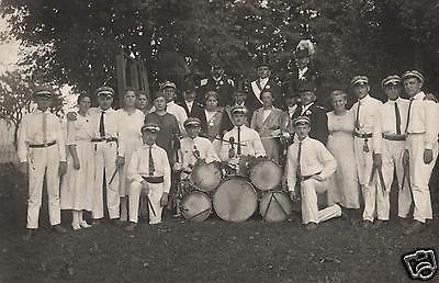 Originalfoto 9x13cm, Konzertverein Wesergold Holzminden, ca. 1923