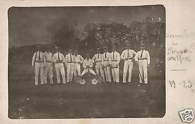 Originalfoto 9x13cm, Konzertverein Wesergold Holzminden in Seesen, 1923
