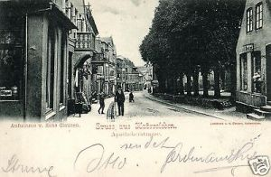 Foto AK, Gruss aus Hadersleben, Apothekerstrasse, 1903
