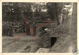Originalfoto 7x10cm, Soldaten am Schießstand, Schießausbildung