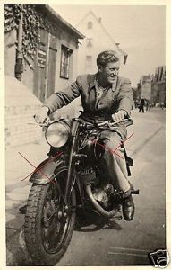 Originalfoto 9x13cm, Oldtimer Motorrad, ca. 1935