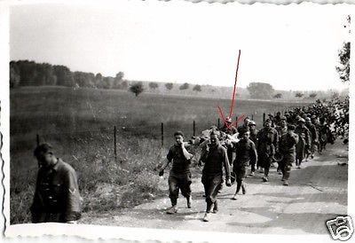 Originalfoto 9x6cm, gefangene, französische Soldaten, 1940