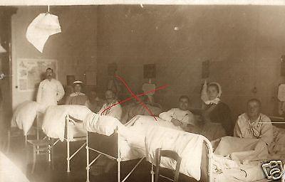 Originalfoto 9x13cm, Verwundete Lazarett Düsseldorf, 1914