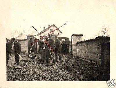 Originalfoto 9x11cm, Deutsche Soldaten beim Straßenbau in Biskupice Polen