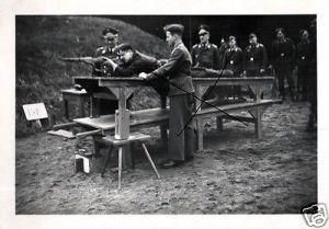 2 Originalfoto 6x9cm, Schießstand, Schießausbildung Luftwaffe