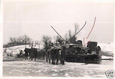 Originalfoto 7x10cm, Unfall auf einer Pontonbrücke, Rußland