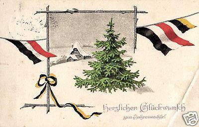 Patriotika AK, Weihnachtsgruß, Flaggen, 1915