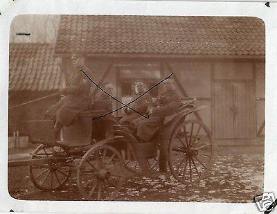 Originalfoto 9x12cm, Bückeburger Jägerin Kutsche vor Totenmann
