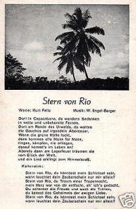 Liedkarte, Stern von Rio
