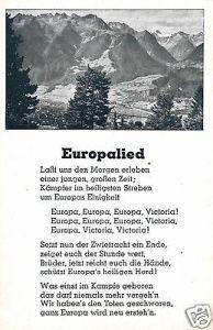 Liedkarte, Europalied