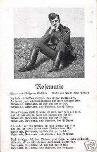Liedkarte, Rosemarie