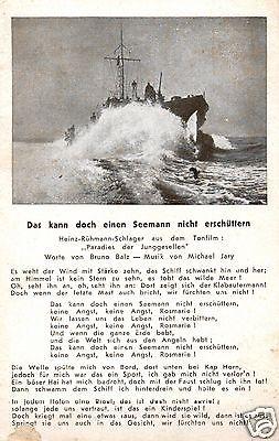 Liedkarte, Das kann doch einen Seemann nicht erschüttern
