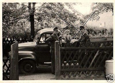 Originalfoto 7x10cm, Heeresflieger Faßberg+LKW, ca. 1957