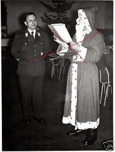 5 Originalfoto 9x11cm, Weihnachtsfeier Heeresflieger Faßberg, ca. 1957