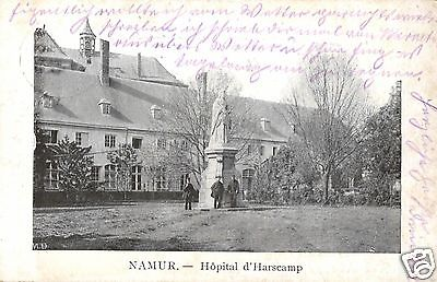 Foto AK, Namur, Hopital d'Harscamp, Stempel Jäger Batl. 10, 1915