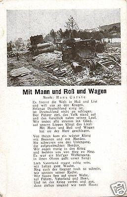 Liedkarte, Mit Mann und Roß und Wagen