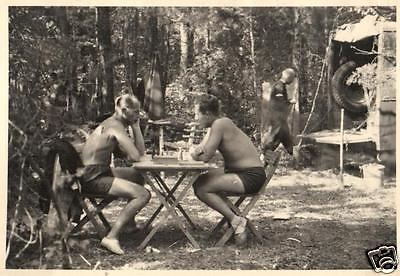 Originalfoto 7x10 nackte Soldaten, naked soldiers, Vintage Gay