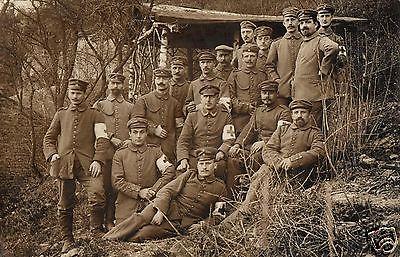 Originalfoto 9x13cm, Sanitäter vom Lazarett Tarthun, ca. 1916