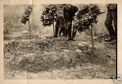 Originalfoto 7x10cm, Deutsche Soldatengräber bei Mogilev