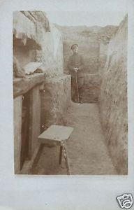Originalfoto 9x13cm, Offizier im Schützengraben