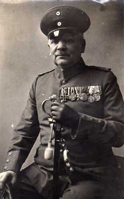 Originalfoto 6x9cm, Veteran Offizier WK I, Ordenspange, ca. 1935