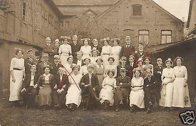 Originalfoto 9x13cm, Schüler+Schülerinnen, Holzminden 1913