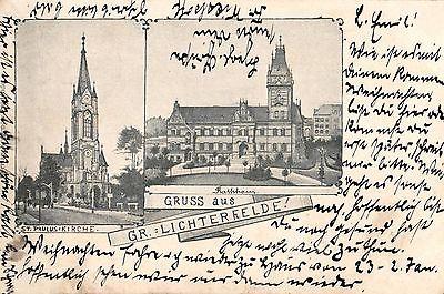 Foto AK, Gruss aus Lichterfelde, nach Königsberg gelaufen, 1902