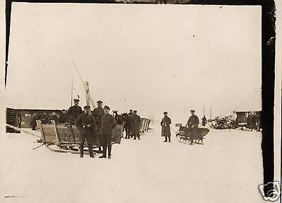 Originalfoto 9x12cm, Nachschub, Panjeschlitten, Russland ca. 1916
