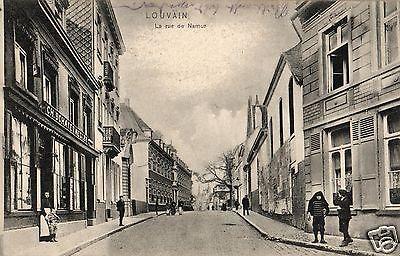 Foto AK, Louvin, Rue de Namur, Stempel Jäger Batl. 10, 1915