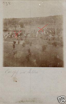 2 Originalfoto 9x13cm, Deutscher Soldatenfriedhof bei Chermizy-Ailles