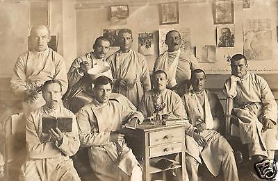 Originalfoto 9x13cm, Verwundete Lazarett Hamburg, 1915