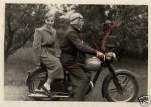 Originalfoto 6x9cm, Oldtimer Motorrad Simson, 1954