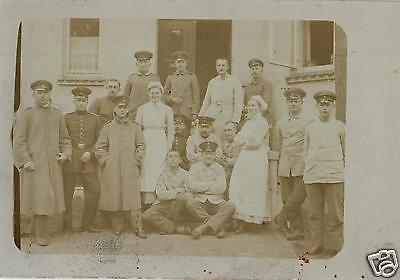 Originalfoto 9x13cm, Verwundete+Schwestern, Lazarett Bremen