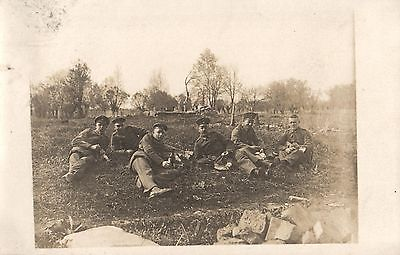 Originalfoto 9x13, Soldaten San. Komp. 19, Galizien, ca. 1915