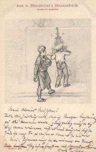 Künstlerkarte Aus A. Hendschel' s Skizzenbuch, 1900