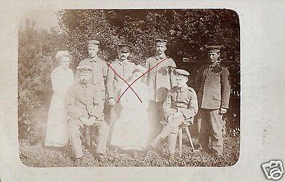 Originalfoto 9x13cm, Verwundete, Res. Lazarett Arolsen, 1917