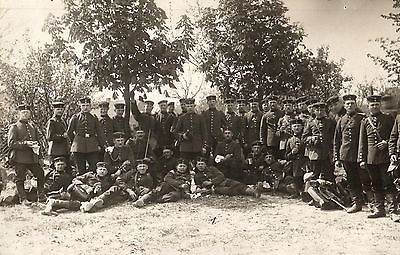 Originalfoto 9x13, Soldaten, Munsterlager, ca. 1910