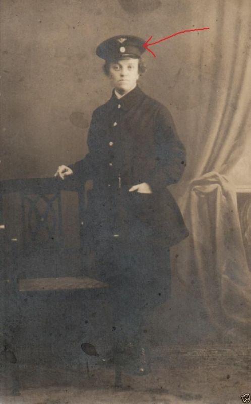Originalfoto 9x13cm, Frau im freiw. Vaterländischen Hilfsdienst, 1916