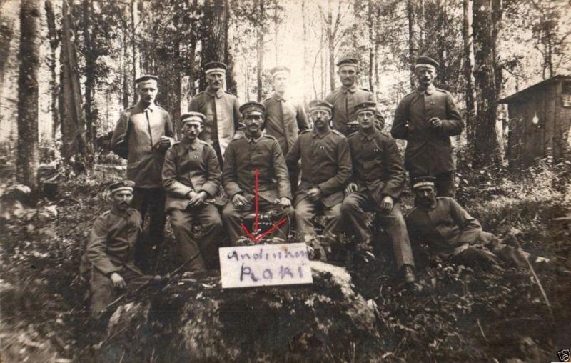 Originalfoto 9x13cm, Soldaten Lager Raki, Russland, 1917