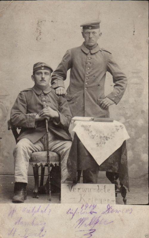Originalfoto 9x13, Verwundete, Lazarett Hadamar, 1914