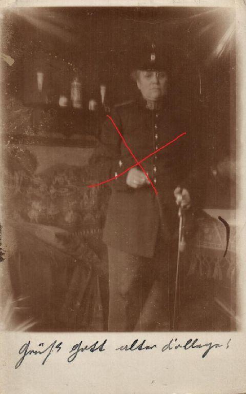 Originalfoto 9x13cm, Frau in Uniform, Säbel