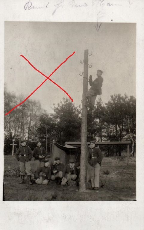 Originalfoto 9x13cm, Soldaten, Kgl. Preuß. Frensprech Ersatz Abtl. 6